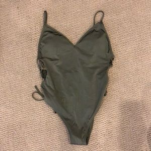 A&F Lace up One Piece